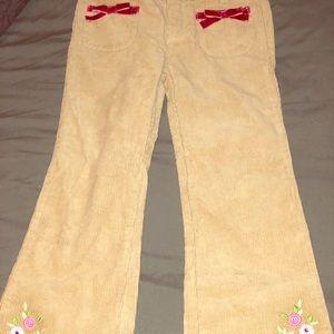 Corduroy girls pants gymboree used